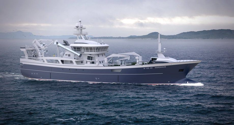 Salt Ship har designet på fartøyet «Hardhaus». Foto: Salt Ship Design.