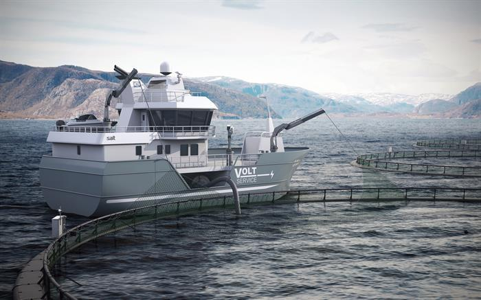 VOLT Harvest is a small vessel with a high capacity in relation to the vessel size. Illustration Photo: SALT Ship Design