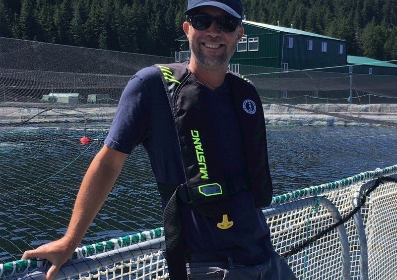 John Paul Fraser at one of the fish farms he will represent in his new role at the BC Salmon Farmers' Association. Photo: BCSFA