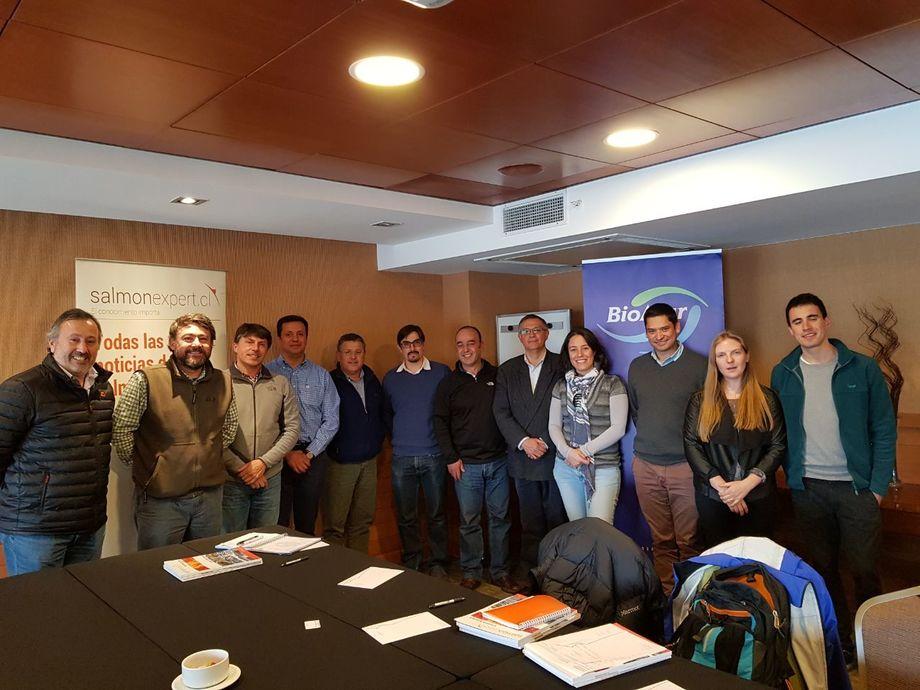 Asistentes al primer encuentro del Chilean RAS Council. Imagen: Biomar.