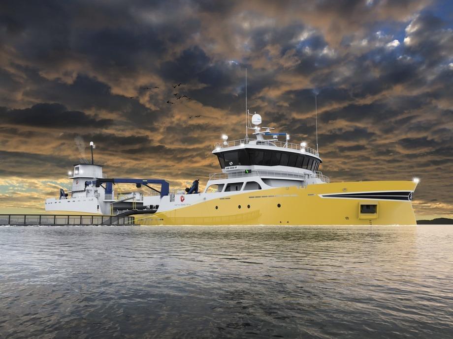 Aas Mek skal bygge brønnbåt for Kerko Seatrans AS PG Flow Solutions skal levere sirkulasjonspumpe Illustrasjon: Aas Mek