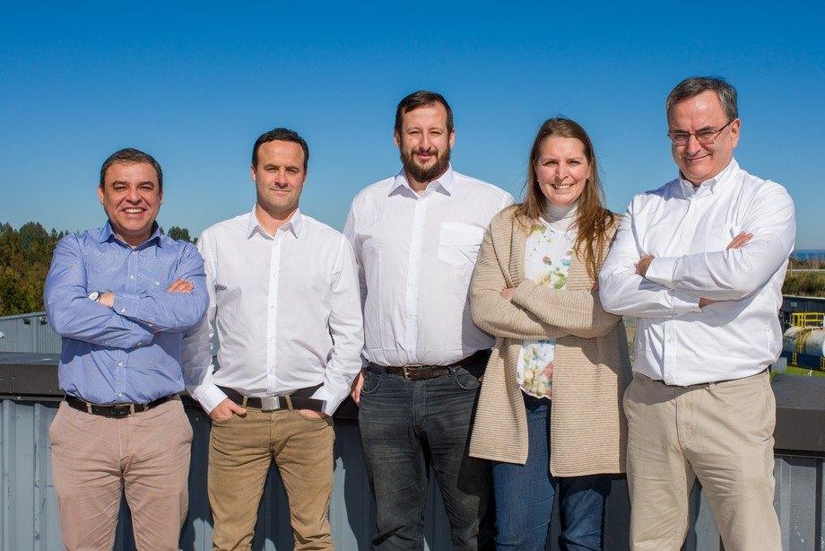 Ledergruppen: Fra venstre: Marcelo E. Araned, Matias Del Campo, Gabriel Puchi Germani, Verónica Opitz, Jean Paul Lhorente Caussade. Luis Alexis Aro var ikke tilstede da bildet ble tatt.