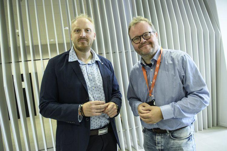 Willie Wågen er innleid som prosjektleder for det nye katapultsenteret. Asbjørn Halsebakke fra The Switch er interimstyreleder. Foto: NCE Maritime Cleantech