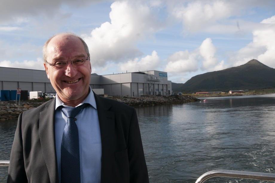 Steigen mayor Asle Schrøder is very pleased to have Cermaq in the municipality. Photo: Pål Mugaas Jensen.