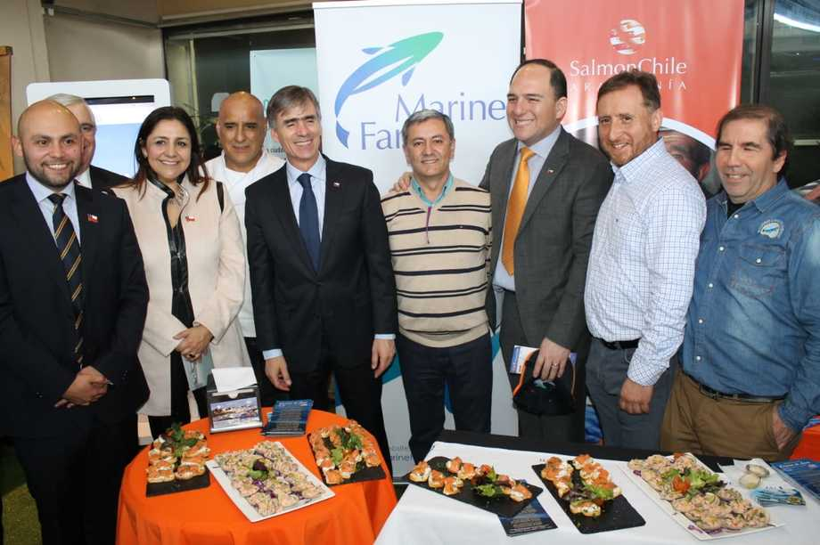 El ministro de Economía, José Ramón Valente, participó en el Encuentro Empresarial. Foto: SalmonChile.