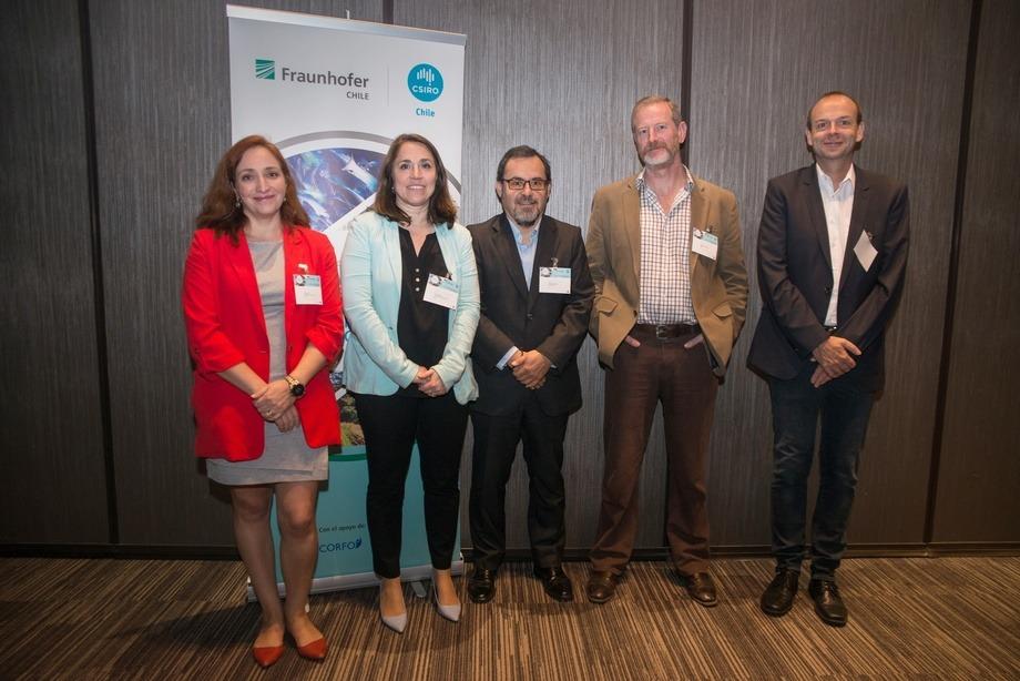 Expositores del seminario Innovación Sustentable: Desafíos para la Empresa del Siglo XXI.