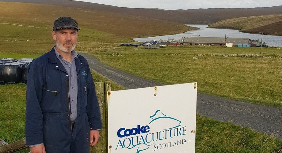 John McCulloch is the first person to complete the NAFC's Technical Apprenticeship in Aquaculture Management. Photo: NAFC