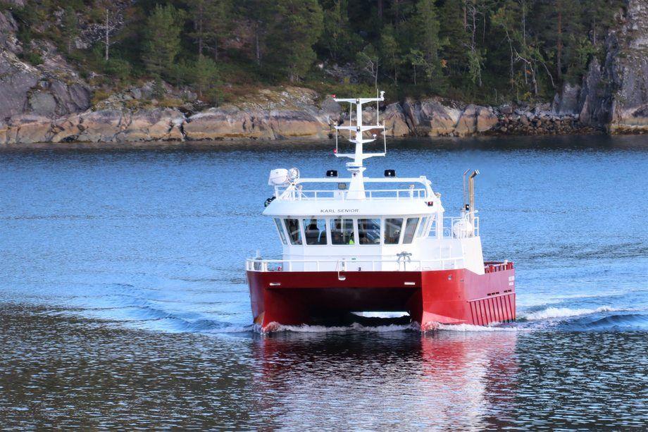 Det nye fartøyet har fått navnet Karl Senior. Foto: Moen Marin