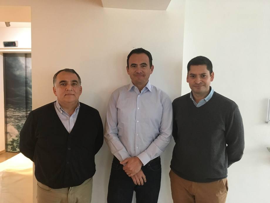 Gonzalo Romero, Hugo Contreras y Erich Guerrero. Imagen: Salmonexpert.