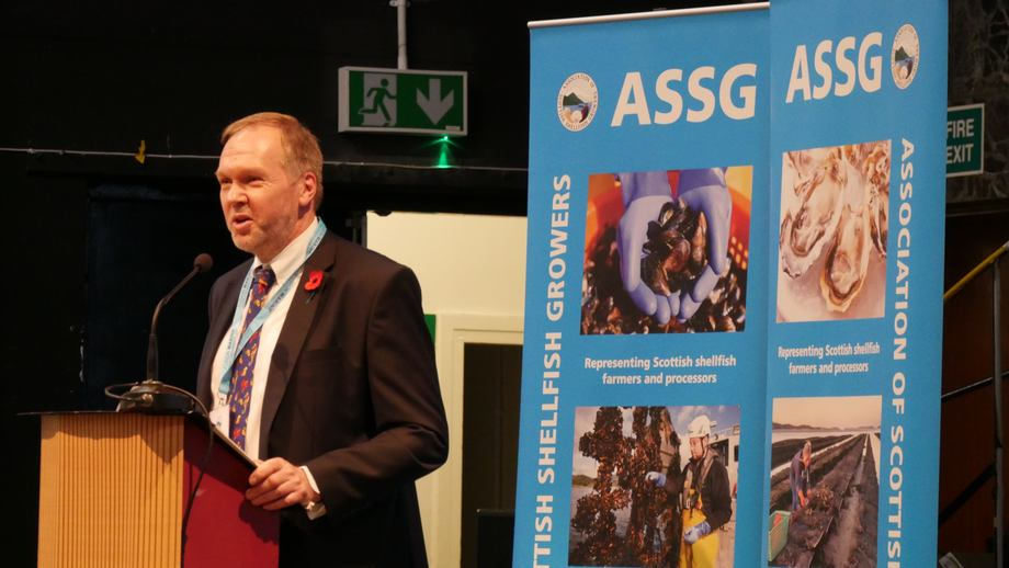 ASSG executive director Nick Lake speaking at last year's conference. The annual event presents