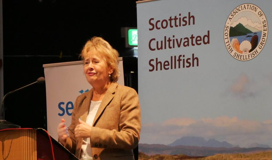 Roseanna Cunningham gives the opening speech at the ASSG conference in Oban. Photo: FFE