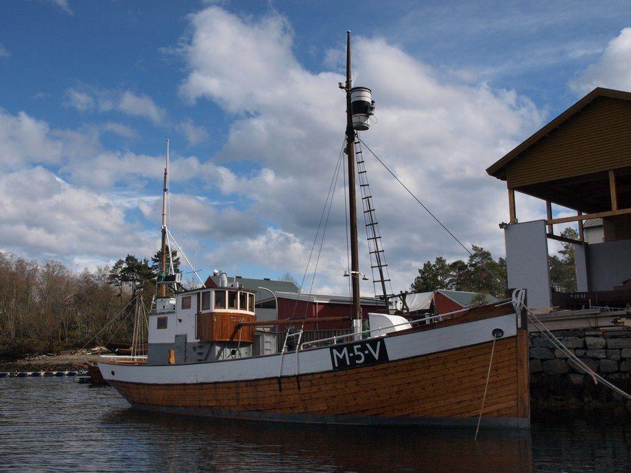 MK «Heland» ved kai ved Sunnmøre Museum Foto: Sunnmøre Museum