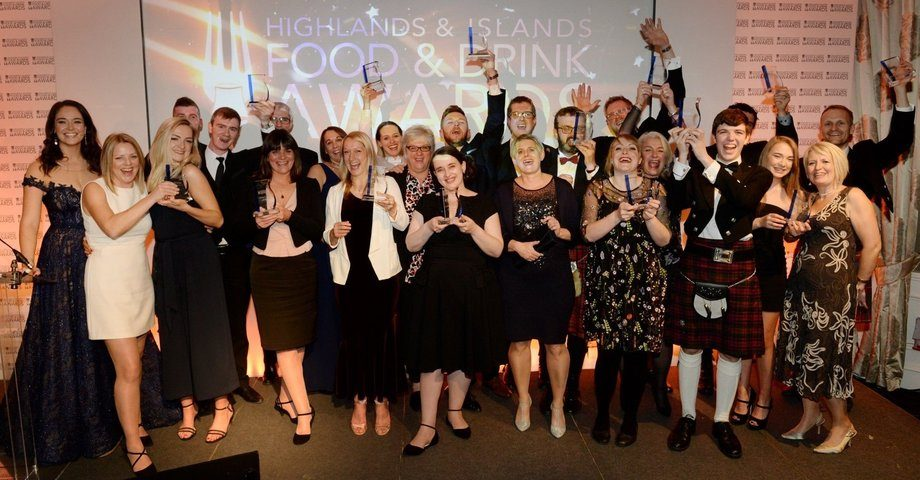 HIFAD winners celebrate in Inverness last Friday. Photo: HIFAD Awards / Twitter