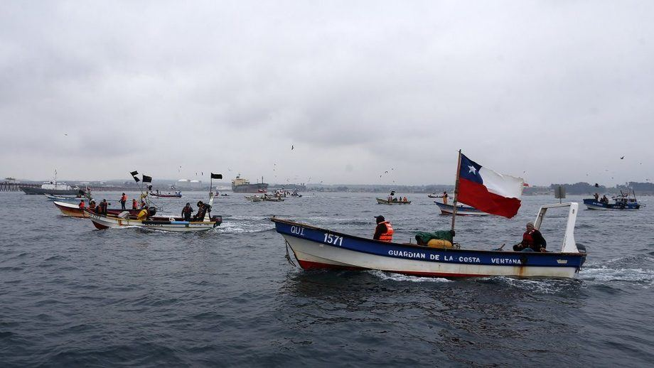 El recurso presentado por organizaciones, representa a un universo de 738 pescadores. Imagen: ATON.