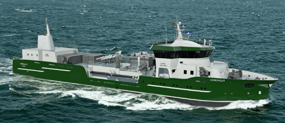 Ballastvannrensesystemet skal brukes om bord brønnbåten «Hordagut». Illustrasjon: Heimli/Fitjar Mekaniske Verksted