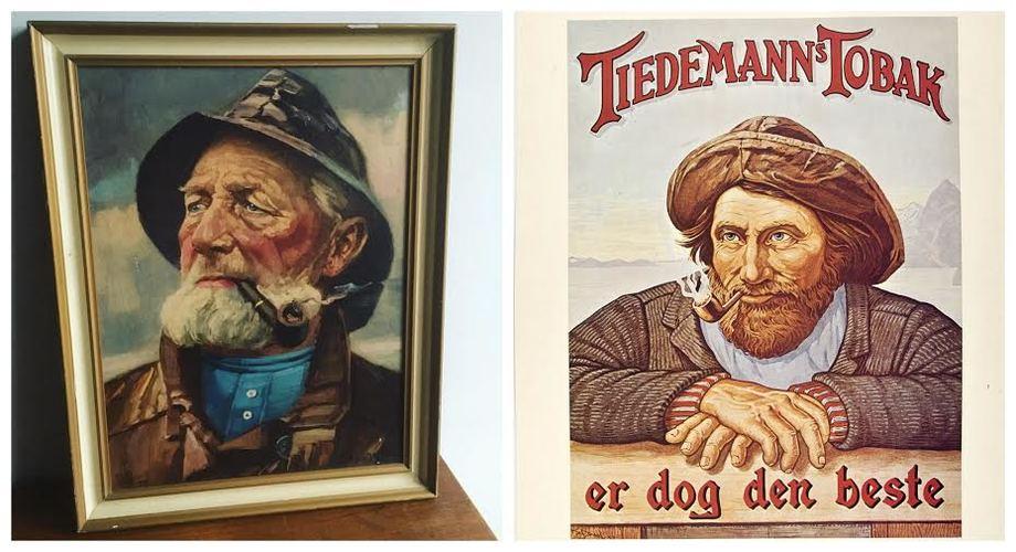 Disse to ikonene av den norske fisker har prydet norske stuevegger i snart 100 år. En er ikke norsk, ikke engang fisker. En annen er snekker. Og den tredje? Montasje: Andrea Bærland.