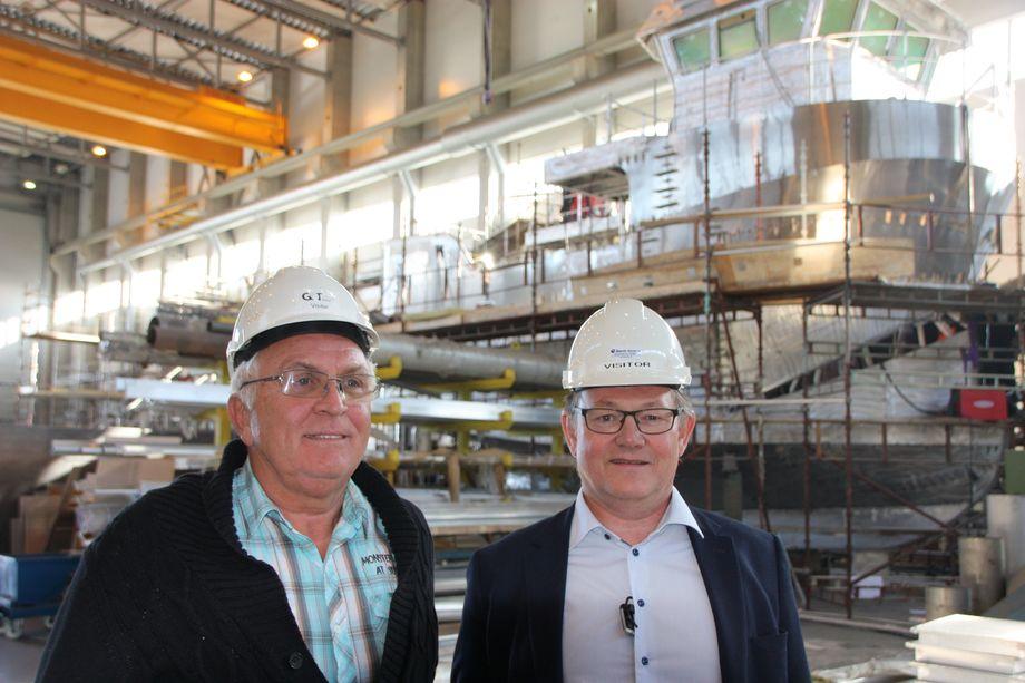 Administrerende direktør i Global Ocean Assure Tor Ove Bråthen (th) og markedssjef Sven Evertsen vil inn i riggmarkedet. Foto:Sigbjørn Larsen.