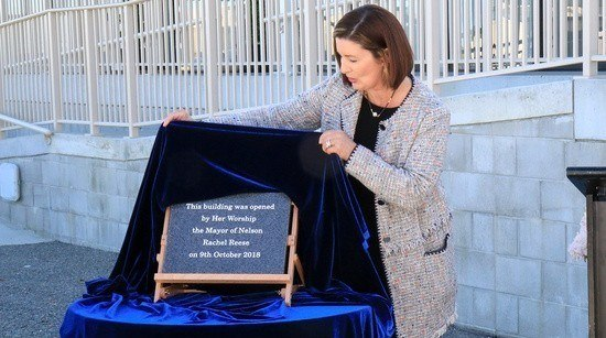 Nelson mayor, Rachel Reese, officially opens the research centre at Cawthron Aquaculture Park this week. Photo: Cawthron Institute