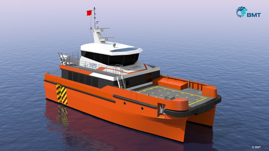 Slik skal Njord Offshores to nye fartøy sjå ut. Illustrasjon: BMT