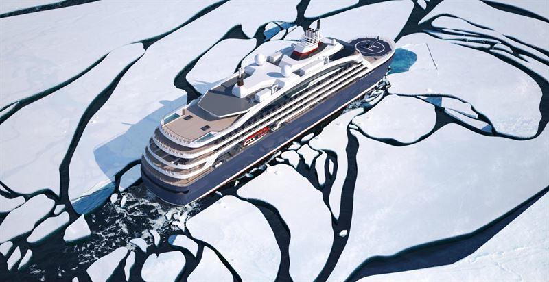 Ponants nye cruiseskip får avanserte miljøytelser med Wärtsiläs LNG-løsninger Bilde: Ponant