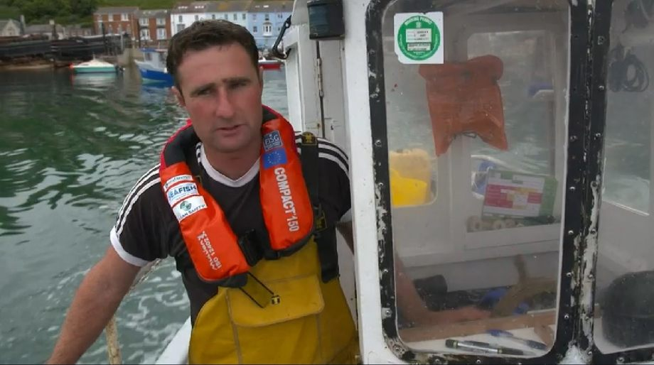 Luke Copperthwaite took Joe Crowley on his boat which was later filmed fishing in a no-take zone. Image: BBC
