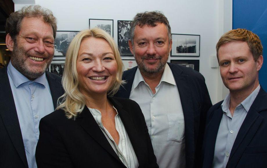 Ny ledergruppe i Bellona. Fra venstre: Frederic Hauge, Erle Kristin Wagle, Pierre Herben og Pål Brun. Foto: Bellona.