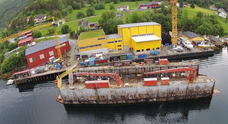 Sletta Verft har hele ni fartøy til havbruksnæringen under bygging og jobber for tiden med å inngå flere kontrakter for neste år. Foto: