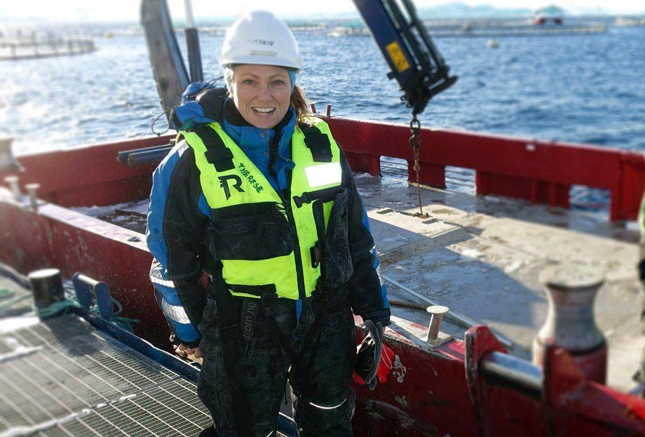 Therese Eleonor Andersson (39) har lenge drømt om å ende opp der hun nå befinner seg. Foto: Tom Lysø.