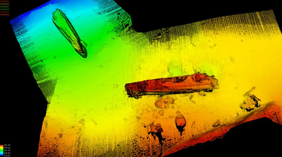 Ubåtvraket som har ligget med 67 tonn metallisk kvikksølv vest av Fedje siden 1945. Foto: Kystverket
