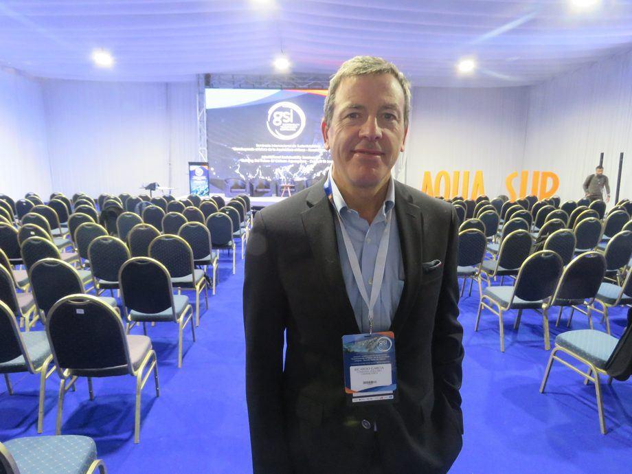 Ricardo García, vicepresidente de Salmones Camanchaca. Foto: Jonathan Garcés, Salmonexpert.