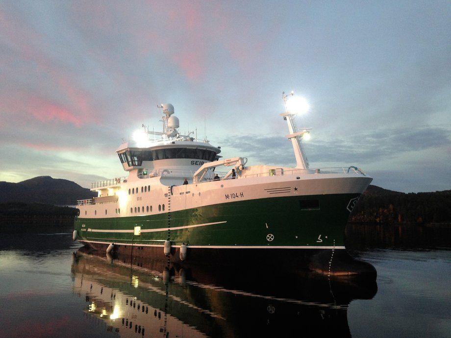 Den nye «Seir» er overlevert til stolte redere. Foto: Seir AS