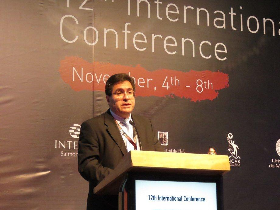 Miguel Ángel Quiroga, investigador del Incar. Foto: Francisco Soto, Salmonexpert.