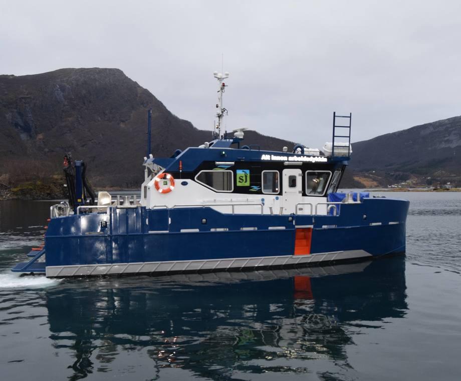 Byggenummer 149 «Sarpen»ble nylig overlevert til SJ Dykk. Foto: Grovfjord Mek. Verksted.