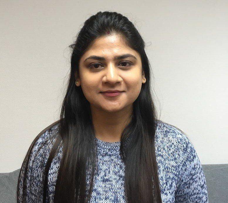 Nyansatte Bhanvi Rohilla skal blant annet jobbe med å videreutvikle Fluctus sine fôringssystemer. Foto: Fluctus.