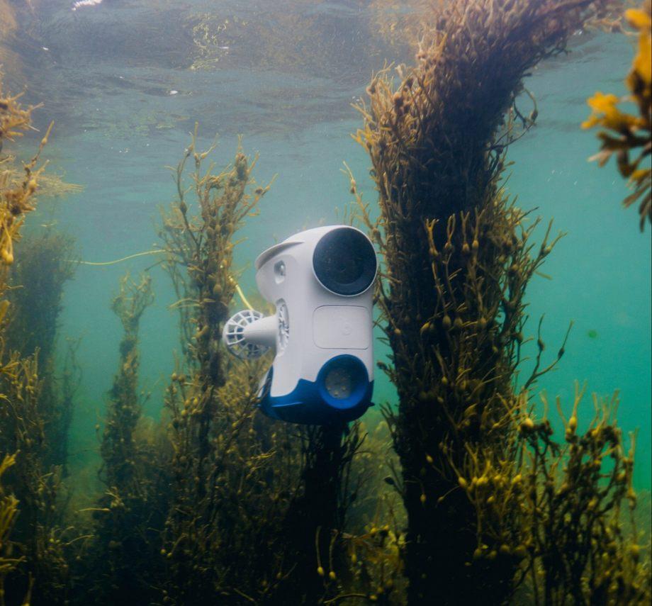 Blueye Robotics bistår med sin undervannsdrone til inspeksjon av den havarerte fregatten KNM Helge Ingstad. Foto: Blueye Robotics.