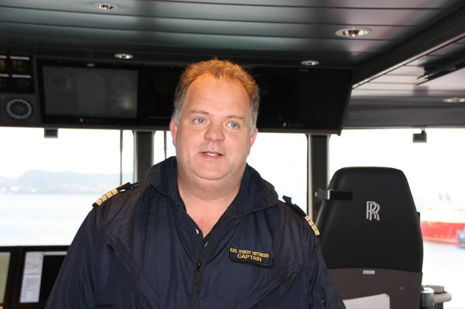 Kaptein Karl Robert Røttingen seiler mot Sørishavet i Havforskningens nye flaggskip