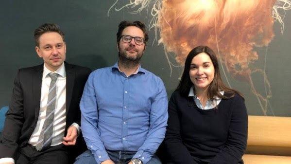 I løpet av én måned har de tre Cermaq-forskerne Sverre Bang Småge, Øyvind Brevik og Kathleen Frisch tatt doktorgraden. Foto: Cermaq.