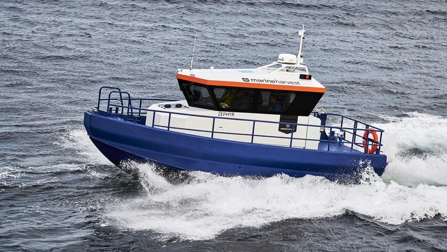 Marine Harvest får ny personellbåt med svært robust design. Foto: Kjell Stian Brunes.