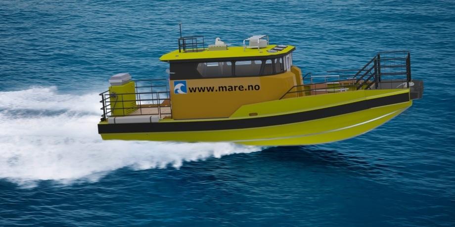 Nyleg signerte Mare Safety kontrakt med Ulstein Verft på ein båt av denne typen; Mare DC12 Windmill.