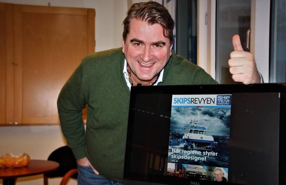 - Vi ser en markant og gledelig utvikling i lesertallene for Skipsrevyen sier redaktør Sigbjørn Larsen. Foto: Helge Martin Markussen.
