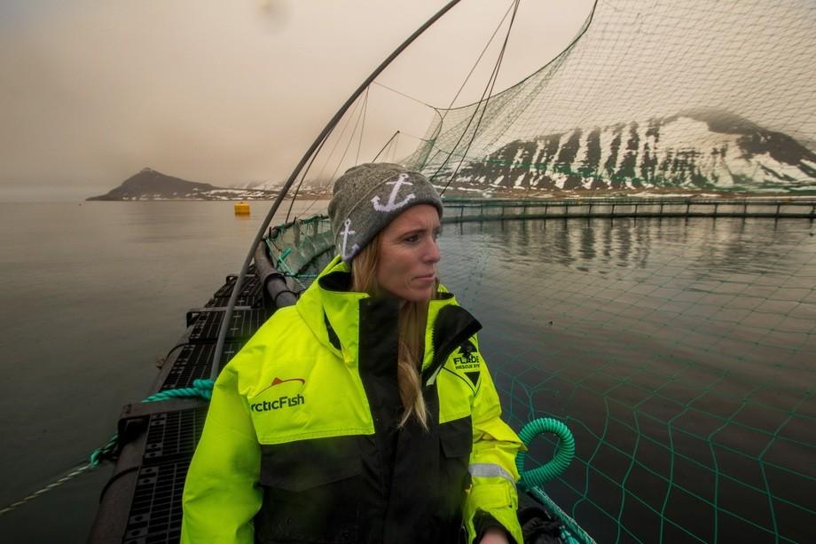 Steinunn Gudny Einarsdottir, Arctic Sea Farm. Foto: Bernhardur Gudmundsson, Artic Sea Farm
