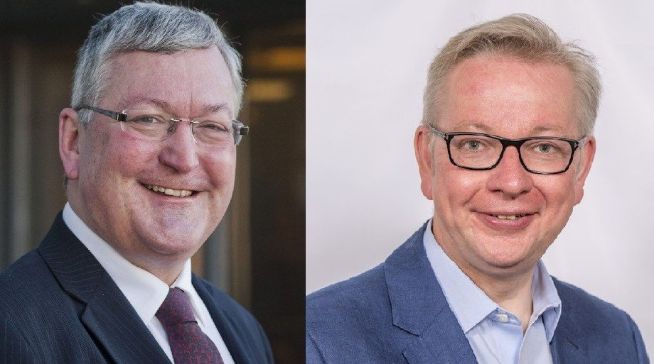 Fergus Ewing, left, has asked Michael Gove if the UK government will reimburse the salmon industry for the costs of a no-deal Brexit.
