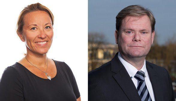 Inn i Hurtigruten-ledelsen: Stine Steffensen Børke og Bent Martini. Foto: Hurtigruten