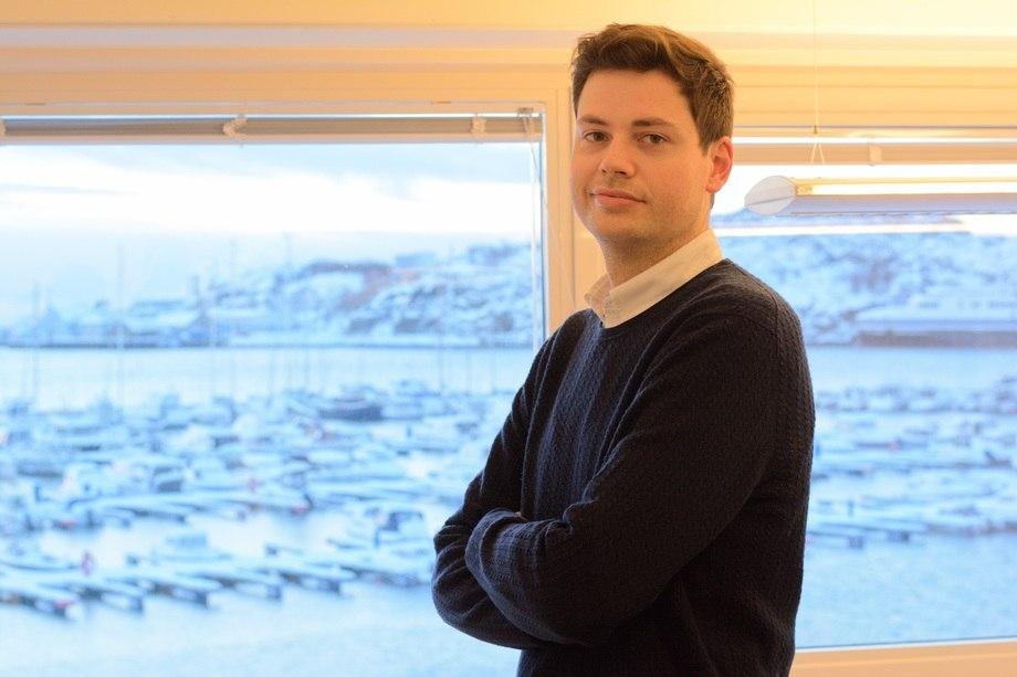 Aleksander L. Pedersen er ansatt som kvalitetsleder ved Salten Fiskeindustri og Salten Salmon. Foto: Salten Aqua.