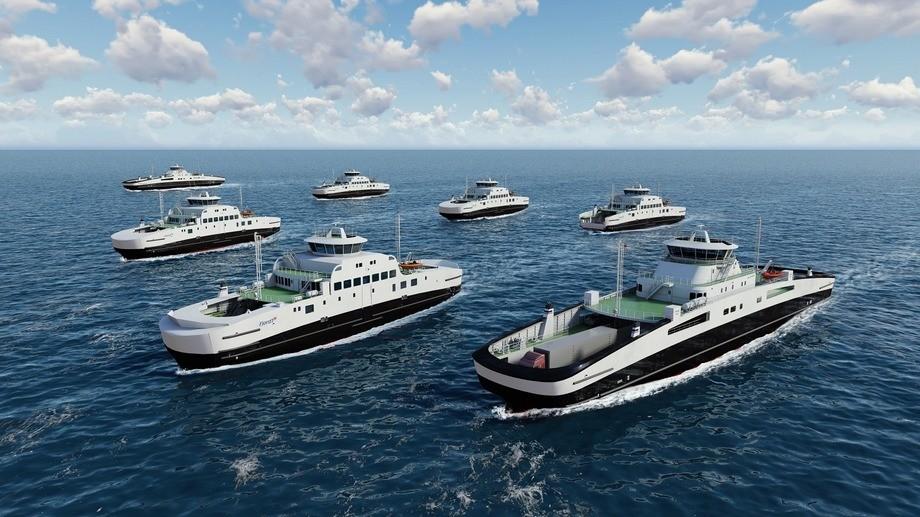 Corvus skal levere batteripakker til de nye Fjord1-fergene som Havyard skal bygge
