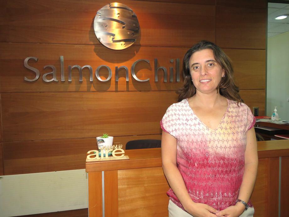 Marcela Bravo, jefa de proyectos de SalmonChile y líder mesa de trabajo de género. Foto: Karla Faúndez, Salmonexpert.