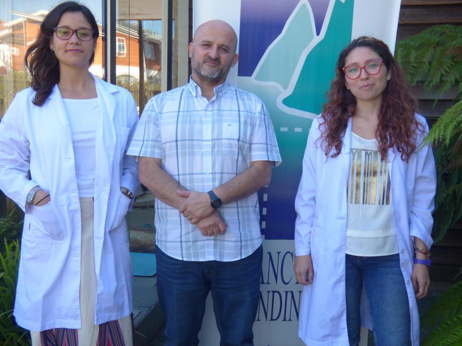 Nicole Correa, César Fernández y Francisca Muñoz, de Plancton Andino. Foto: Plancton Andino.