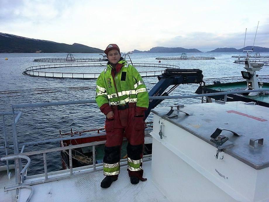 Adrian Jørgensen (26) på en SinkabergHansen lokalitet. Foto: Privat