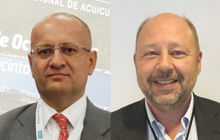Dag Sletmo, analista de DNB Bank, y Jan Petter Lindsetmo, Client Manager de DNB Bank Chile.