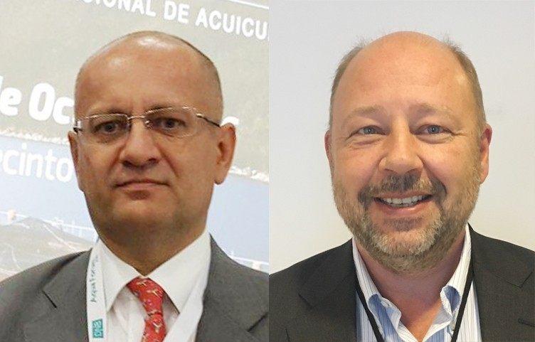 Dag Sletmo, analista de DNB Bank, y Jan Petter Lindsetmo, Client Manager de DNB Bank Chile. Foto: Archivo Salmonexpert.